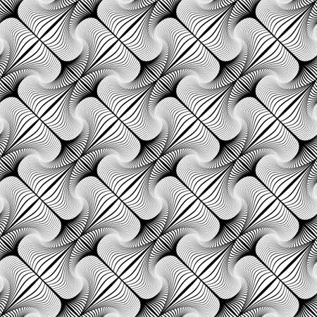 speckled: Design seamless decorative diagonal geometric pattern. Abstract monochrome waving lines background. Speckled texture. Vector art