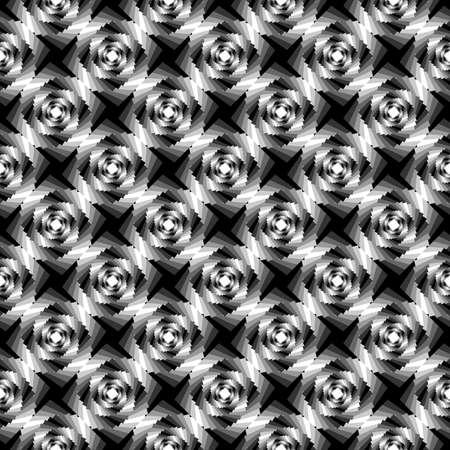 Design seamless monochrome whirlpool geometric pattern. Vector