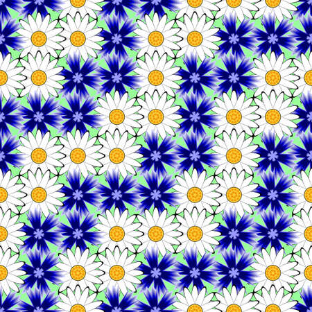 margerite: Design seamless colorful floral decorative pattern.