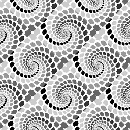 snakeskin: Design seamless monochrome helix movement snakeskin pattern. Illustration
