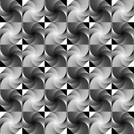 Design seamless monochrome decorative geometric pattern. Vector