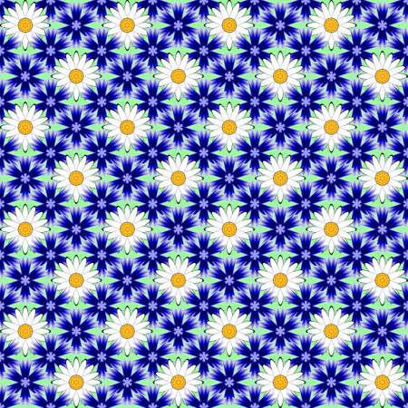 margerite: Design seamless colorful flower decorative pattern.  Illustration