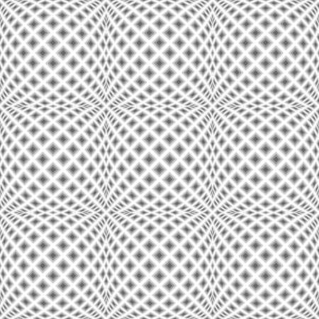 checkered volume: Design seamless monochrome warped diamond pattern.