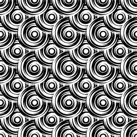 elipse: Dise�ar el modelo del c�rculo blanco y negro sin fisuras. Elipse geom�trico Uncolored fondo diagonal. Vectores
