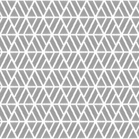 Design seamless monochrome diamond geometric pattern. Abstract doodle lines textured background. Vector art Vector