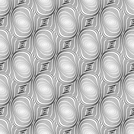 speckled: Design seamless whirl ellipse geometric pattern. Abstract monochrome waving lines background. Speckled twisted texture. Vector art