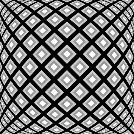 convex: Design monochrome warped diamond pattern. Abstract convex textured background. Vector art
