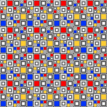 parallelogram: Dise�o colorido patr�n de mosaico sin fisuras comprobado. Decorativo abstracto con textura de fondo. Vector art