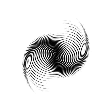 torsion: Design monochrome swirl motion background. Abstract lines torsion backdrop. Decor element. Vector-art illustration