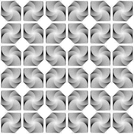 latticed: Design seamless monochrome decorative diamond geometric pattern. Abstract diagonal trellised textured background. Vector art Illustration