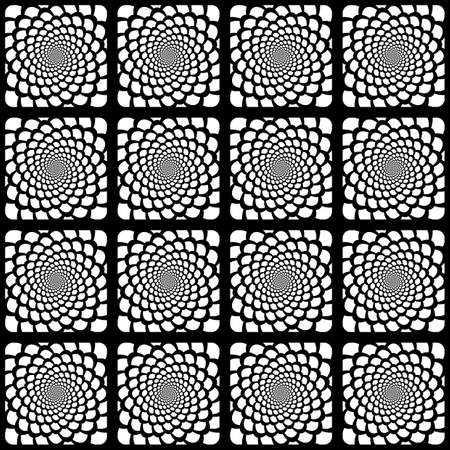 snakeskin: Design seamless monochrome spiral movement snakeskin pattern Illustration