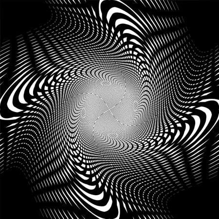 wattle: Design uncolored trellis interlaced spiral background Illustration