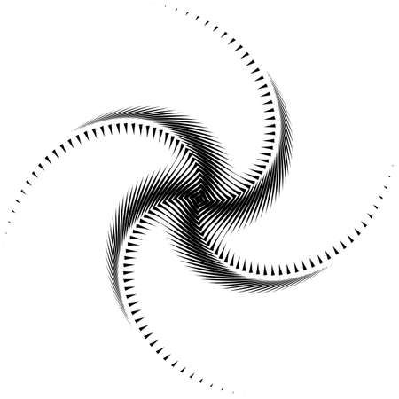 Design monochrome whirl movement octopus background Vector