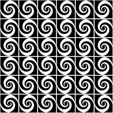Design seamless monochrome spiral movement decorative pattern