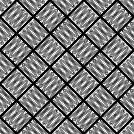 wattle: Design seamless monochrome diamond decorative pattern