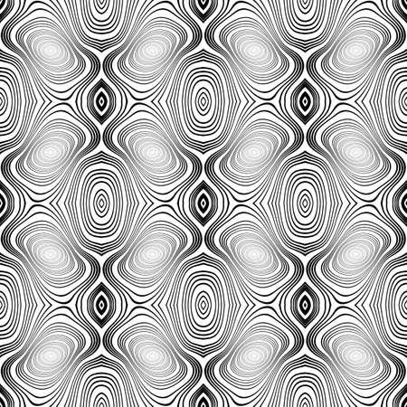 latticed: Design seamless monochrome geometric pattern. Abstract interlacing textured background. Vector art. No gradient Illustration