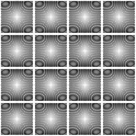Design seamless decorative geometric pattern. Abstract monochrome waving lines background. Speckled texture. Vector art