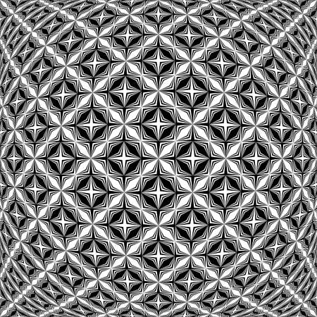 parallelogram: Design monochrome warped grid pattern. Abstract latticed textured background. Vector art