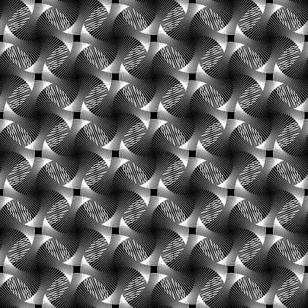 wattle: Design seamless monochrome grid decorative pattern. Abstract diagonal background. Vector art