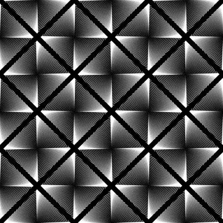 wattle: Design seamless monochrome geometric pattern. Abstract checked interlacing textured background. Vector art Illustration