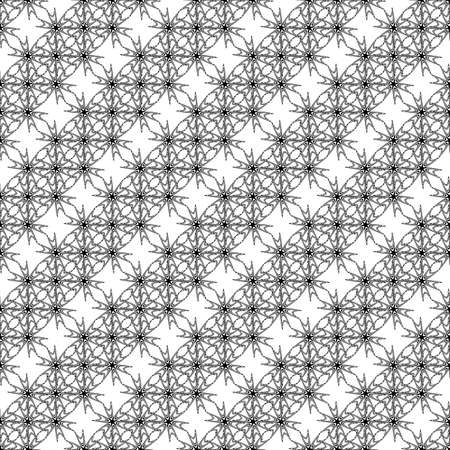 latticed: Design seamless monochrome decorative pattern. Abstract lacy grid diagonal background. Vector art