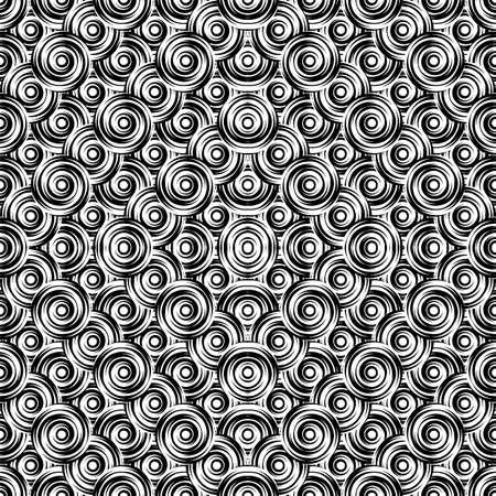 uncolored: Design seamless monochrome circle pattern. Uncolored geometric ellipse diagonal background.