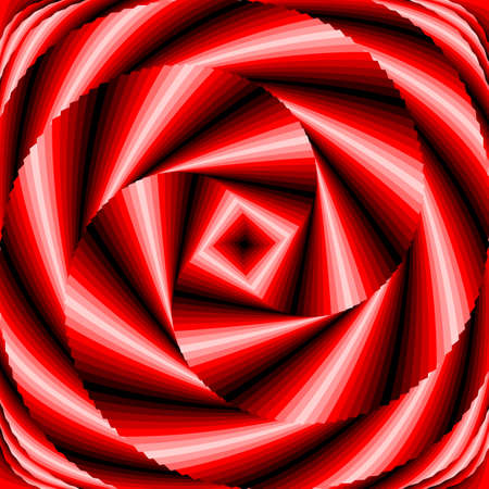 torsion: Design colorful vortex circular movement illusion background. Abstract striped distortion backdrop.  Illustration