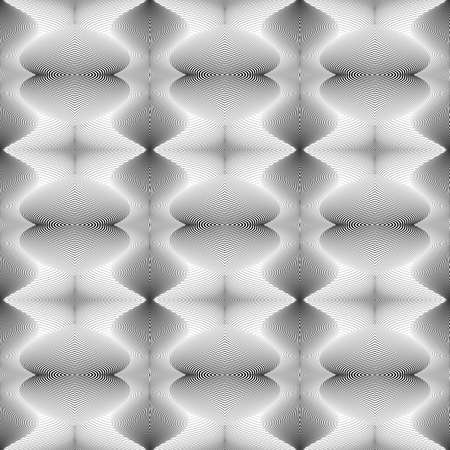 speckled: Design seamless decorative pattern. Abstract monochrome waving lines background. Speckled texture. Vector art