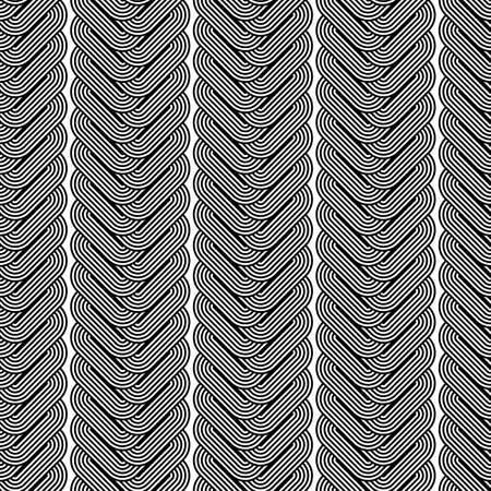 Design seamless monochrome zigzag geometric pattern. Abstract vertical stripy background. Vector art Vector