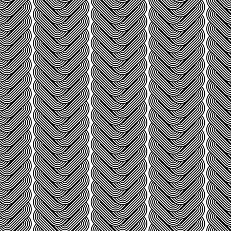 wattle: Design seamless monochrome zigzag geometric pattern. Abstract vertical stripy background. Vector art