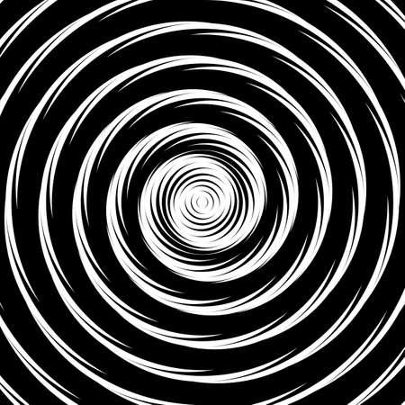 소용돌이 운동 환상 배경을 디자인합니다. 추상적 인 원형 왜곡 기하학적 배경입니다. 벡터 아트 그림 일러스트