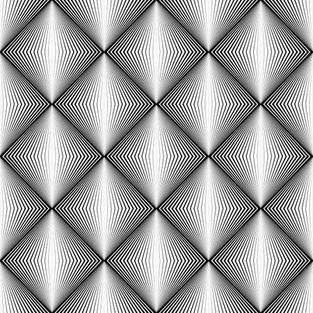 speckled: Design seamless diamond trellised pattern. Abstract geometric monochrome background. Speckled texture. Vector art