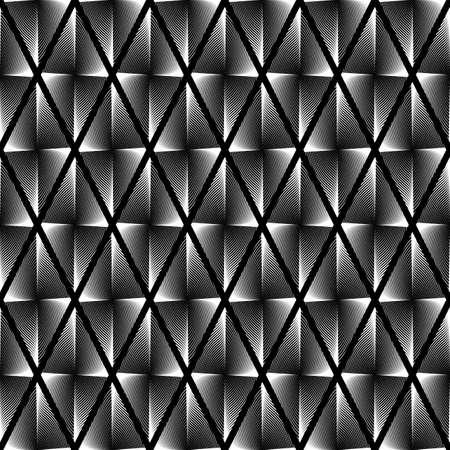 wattle: Design seamless monochrome geometric pattern. Abstract diamond interlacing textured background. Vector art