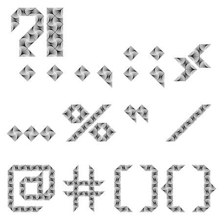 marks: Design punctuation marks set.