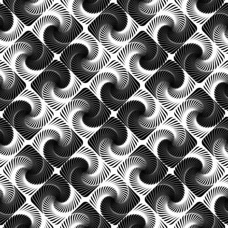 Design seamless vortex movement strip geometric pattern.  Vector