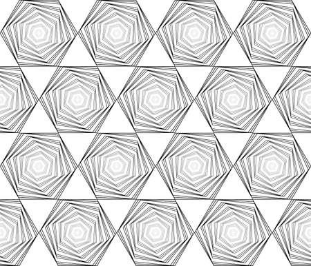 speckle: Design seamless monochrome hexagon geometric pattern.