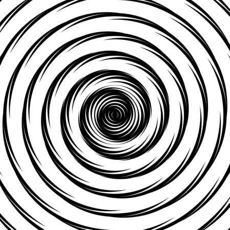 torsion: Design whirlpool movement illusion background. Abstract circle distortion geometric backdrop. Vector-art illustration