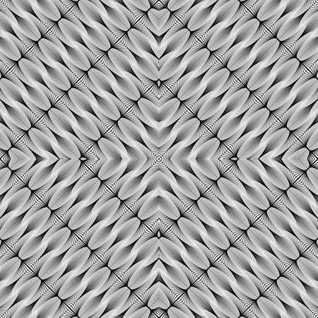 wattle: Design seamless monochrome diamond geometric pattern. Abstract diagonal stripy background. Vector art
