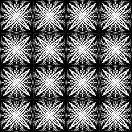 wattle: Design seamless square trellised pattern. Abstract geometric monochrome background. Speckled texture. Vector art Illustration
