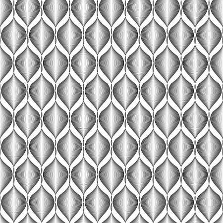Design seamless monochrome zigzag wave pattern. Abstract stripy background.  Vector