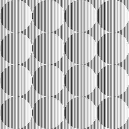 volumetric: Dise�o blanco y negro sin fisuras esfera volum�trica patr�n de l�neas geom�tricas. Vectores