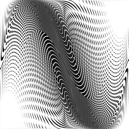 wattle: Design monochrome wave movement background. Abstract warped backdrop. Vector-art illustration Illustration