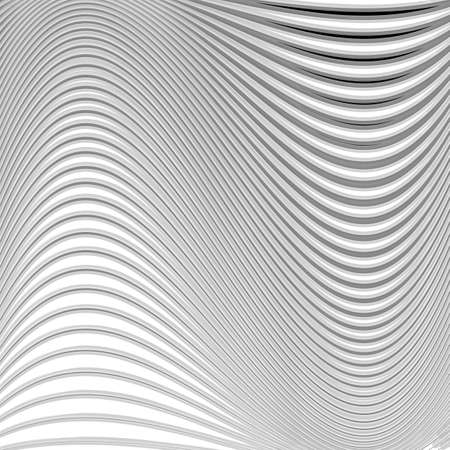 Design monochrome movement illusion background. Abstract striped lines distortion backdrop. Vector-art illustration. EPS10