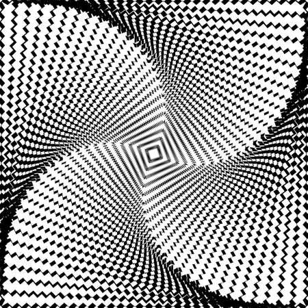 torsion: Design monochrome twirl movement illusion background. Abstract strip torsion backdrop. Vector-art illustration Illustration