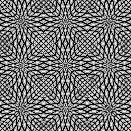 Design monochrome seamless mosaic pattern. Abstract geometric background. Vector art Vector
