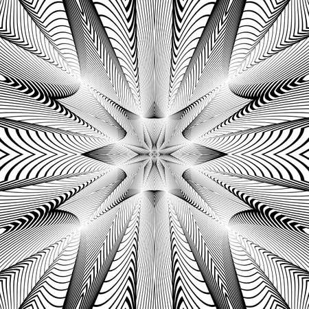 deform: Design monochrome grid background.