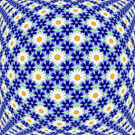 margerite: Design colorful flower decorative pattern.