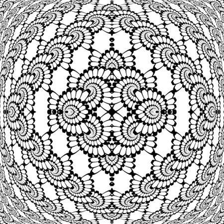 interlaced: Design monochrome decorative interlaced pattern. Abstract textured background. Vector art