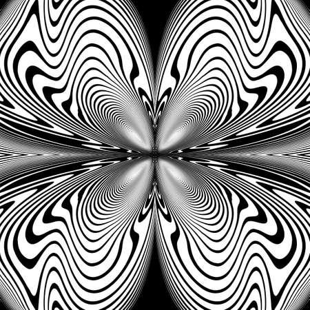 Design monochrome decorative twirl background. Abstract grid textured backdrop. Vector-art illustration. No gradient