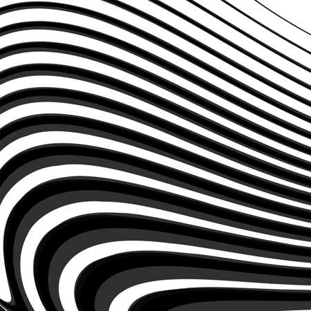 Design monochrome parallel waving lines background. Abstract textured backdrop. Vector-art illustration. No gradient. EPS10